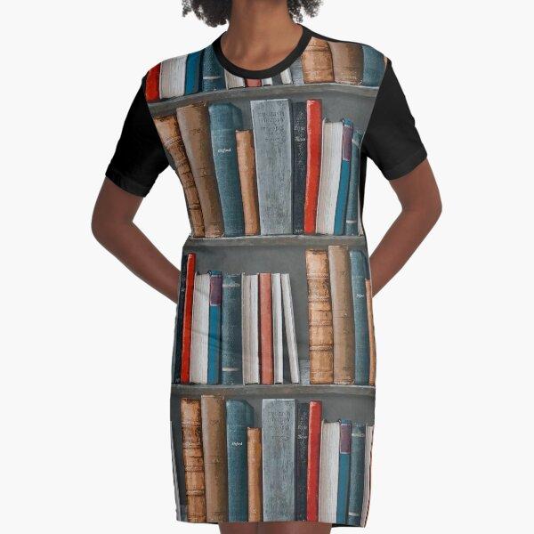 Bookshelves (#1) Graphic T-Shirt Dress