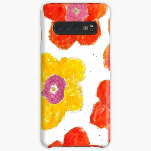 Warm Flower Bursts  Samsung Galaxy Snap Case