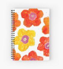 Warm Flower Bursts  Spiral Notebook
