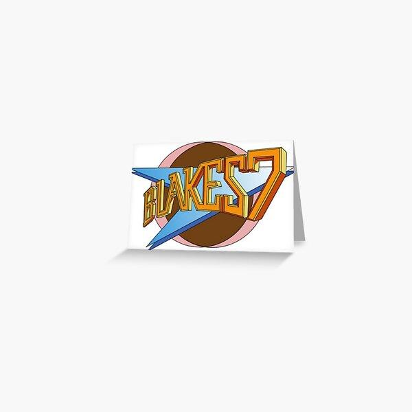 blakes 7 retro 70s tv Greeting Card