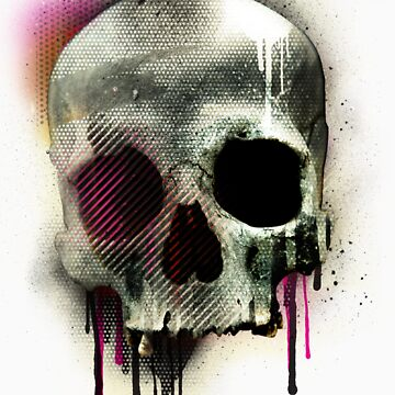Skull with which i have added paint to. In order to create a design for a t-shirt. by GDubz22