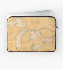 Vintage Map of The Great Lakes (1921) Laptop Sleeve