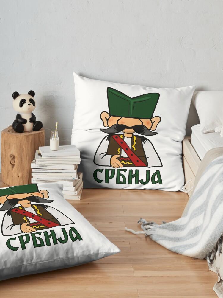 Alternate view of Serbian peasant Floor Pillow