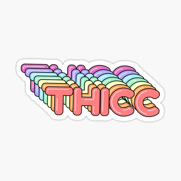 Colorful Thicc Booty Pack Sticker