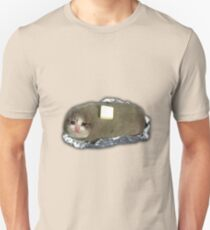 traurige Kartoffelkatze mit Butter Slim Fit T-Shirt