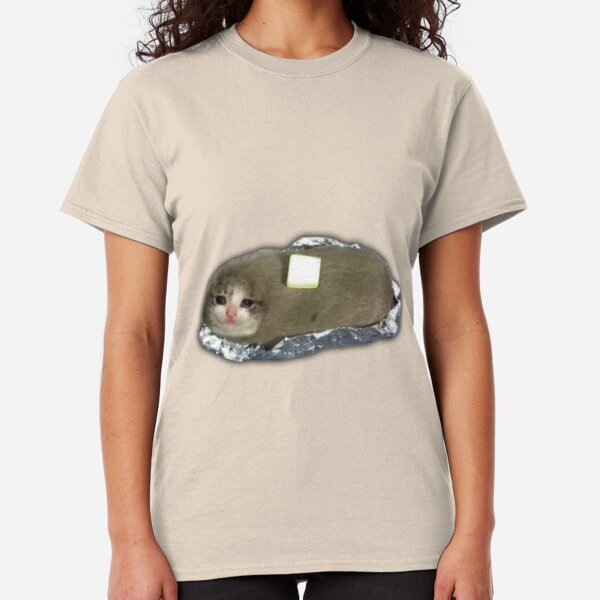 sad potato cat with butter Classic T-Shirt