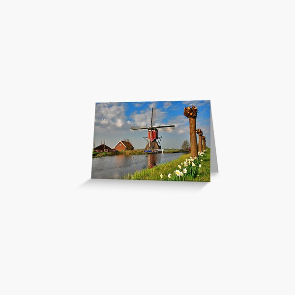 Dutch Mill in Oud Ade Greeting Card