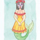 Day Of The Dead Mermaid - MerMonday October 29th 2018 by dreampigment