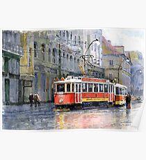 Prague Historical Tram Poster