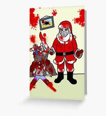 The Serial Santa  Greeting Card