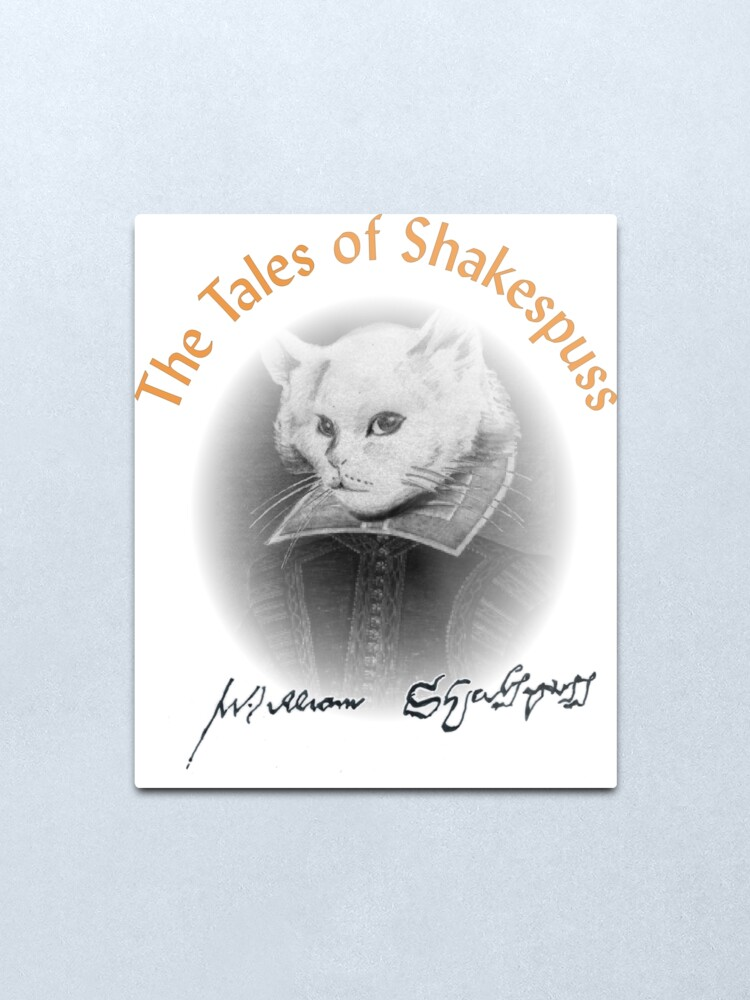 Alternate view of William Shakespuss Metal Print