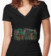 Wildflower Garden T-Shirt Women's Fitted V-Neck T-Shirt
