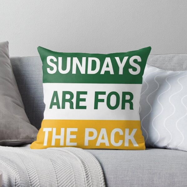 green bay packers pack nation nfl Throw Pillow