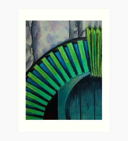 Drain Vent - Oil Pastel Art Print