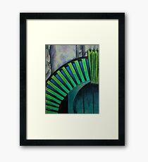 Drain Vent - Oil Pastel Framed Print