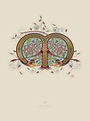 Celtic Initial M by Thoth Adan