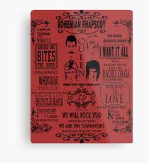 Queen Songs Metal Print