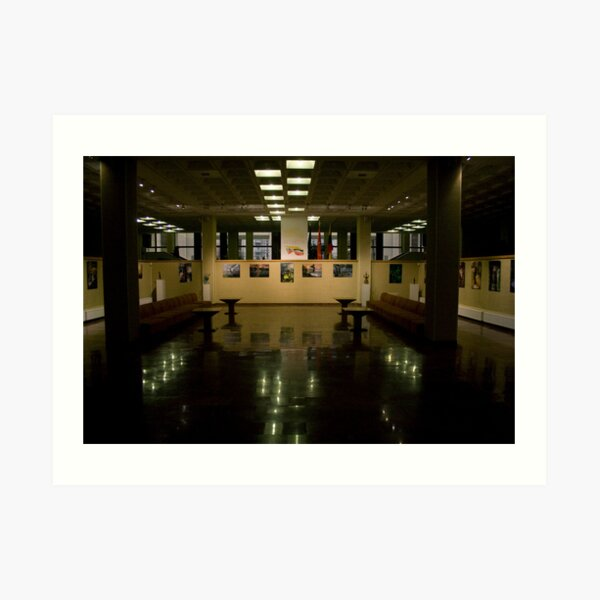 Exposition hall (my exhibition today) Art Print