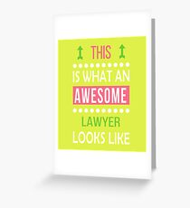 Lawyer Awesome Looks Funny Birthday Christmas Greeting Card