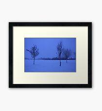 Snowy Countryside Framed Print