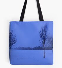 Snowy Countryside Tote Bag