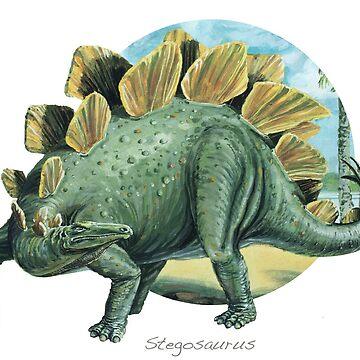 Stegasaurus (Circle Background) by lewisroland