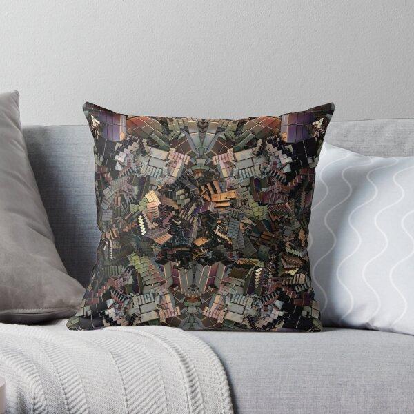 Escher's Modern Nightmare Throw Pillow