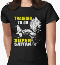 Training To Go Super Strong Women's Fitted T-Shirt