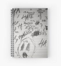 xxxtentacion letter Spiral Notebook