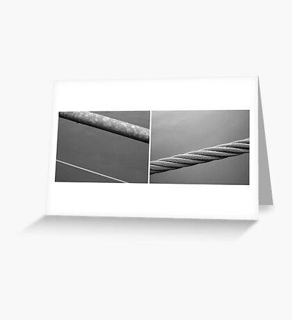 Floating Bridge (diptych 1/2) Greeting Card