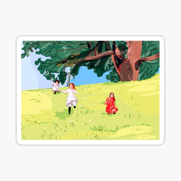 Little house on the prairie sisters Ingalls Sticker