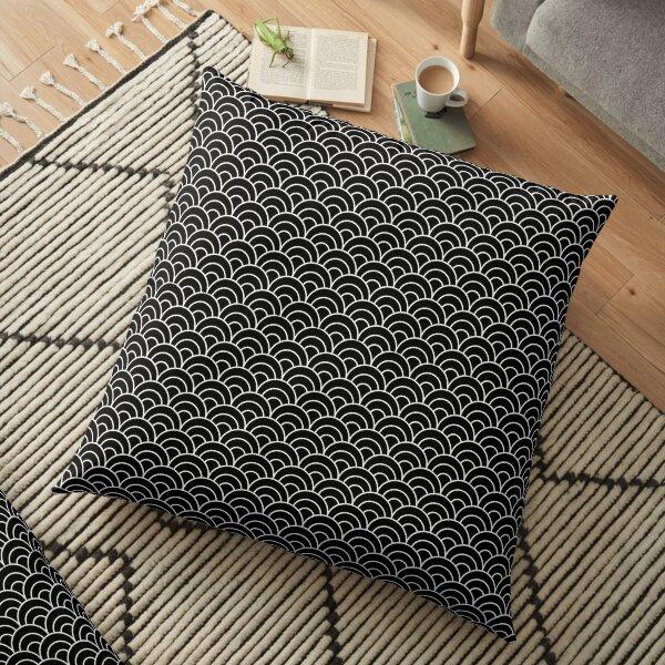 White corrugated black printed floor cushions Floor Pillow