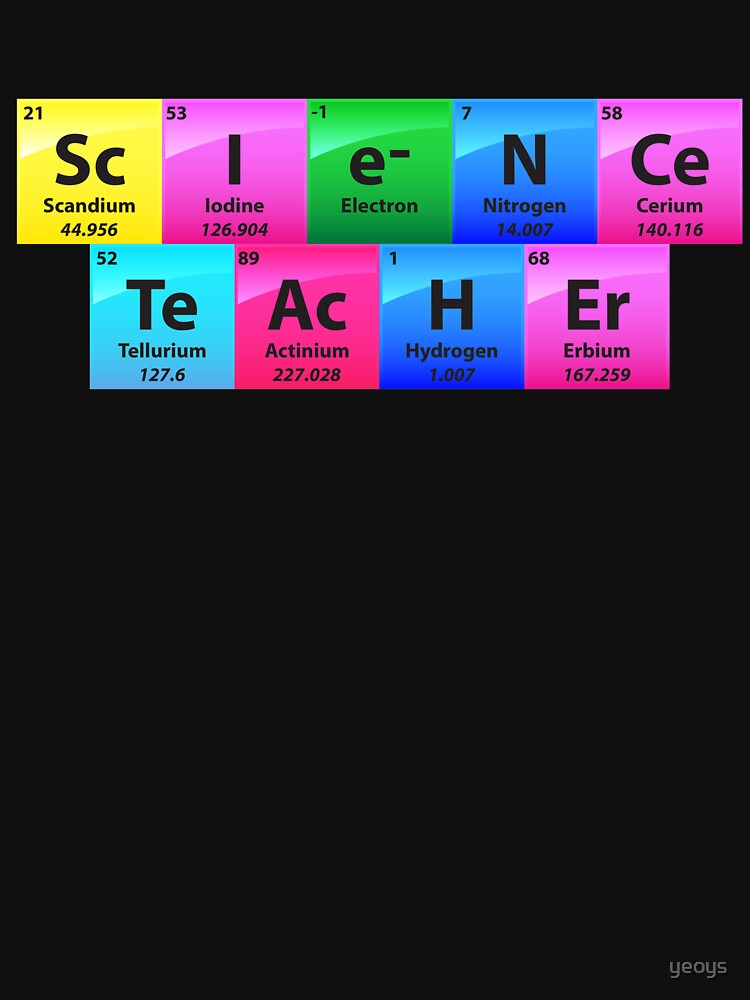 Science Teacher Periodic Table Of Elements - Chemistry Quotes Gift von yeoys