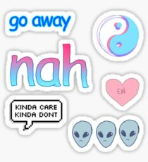 Blue & Pink Themed Tumblr Stickers Sticker