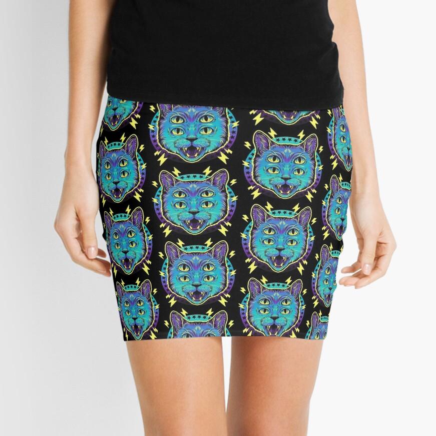 4 Eye Cat Mini Skirt