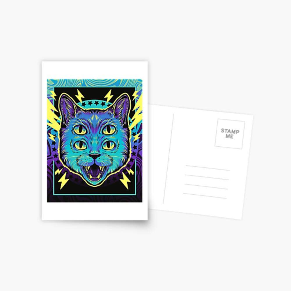 4 Eye Cat Postcard