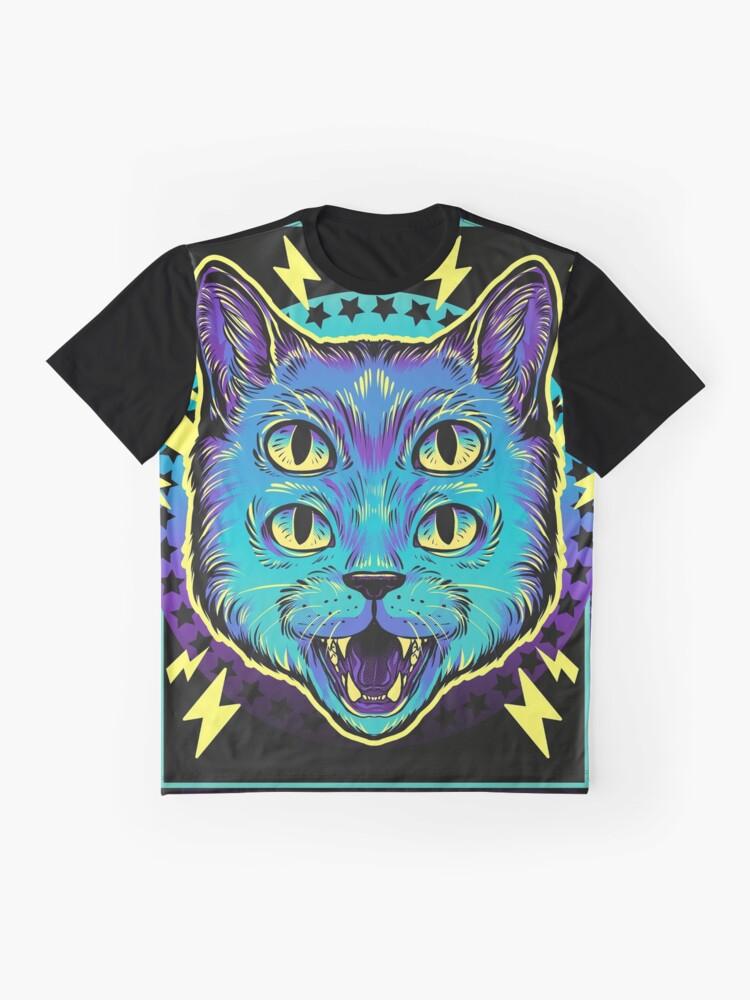 Alternate view of 4 Eye Cat Graphic T-Shirt
