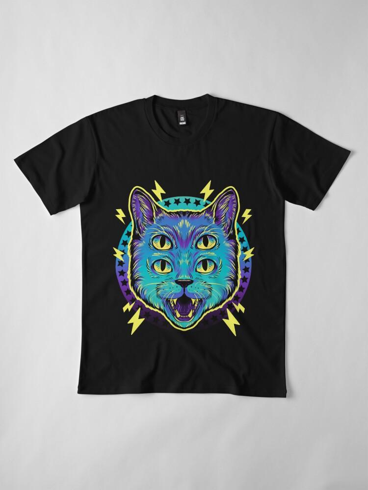 Alternate view of 4 Eye Cat Premium T-Shirt