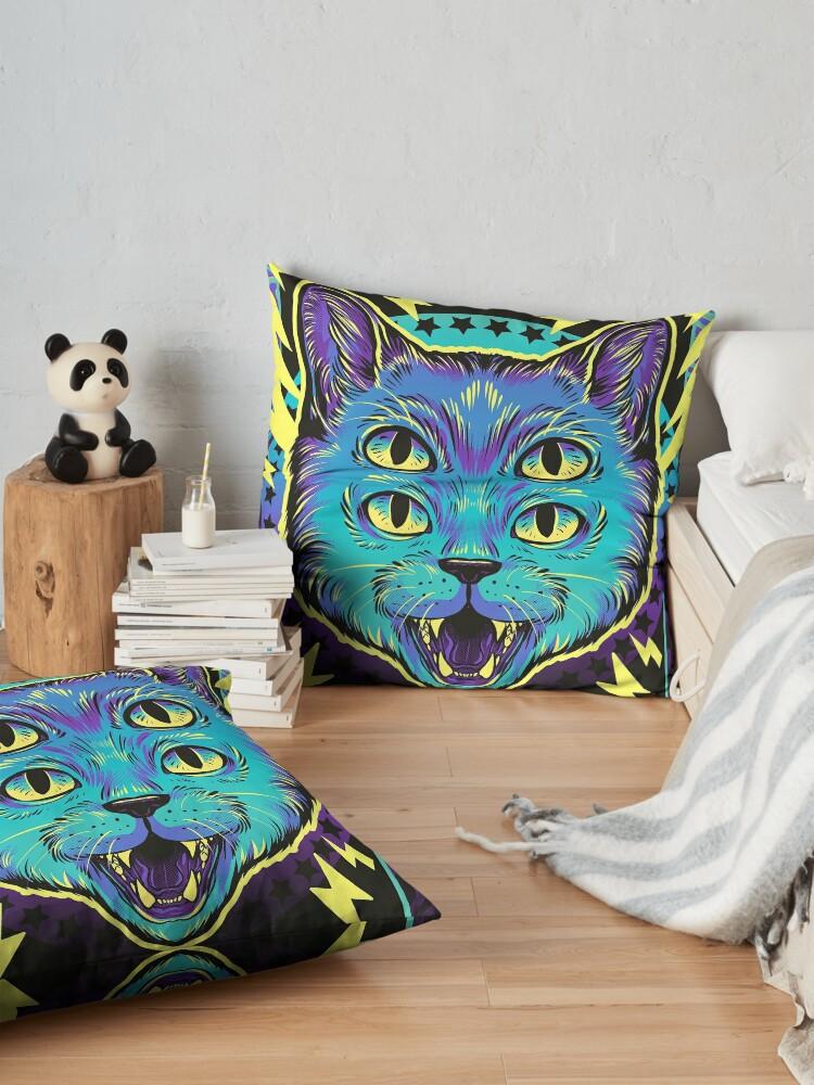 Alternate view of 4 Eye Cat Floor Pillow