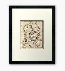 Vintage Map of Denmark (1815) Framed Print