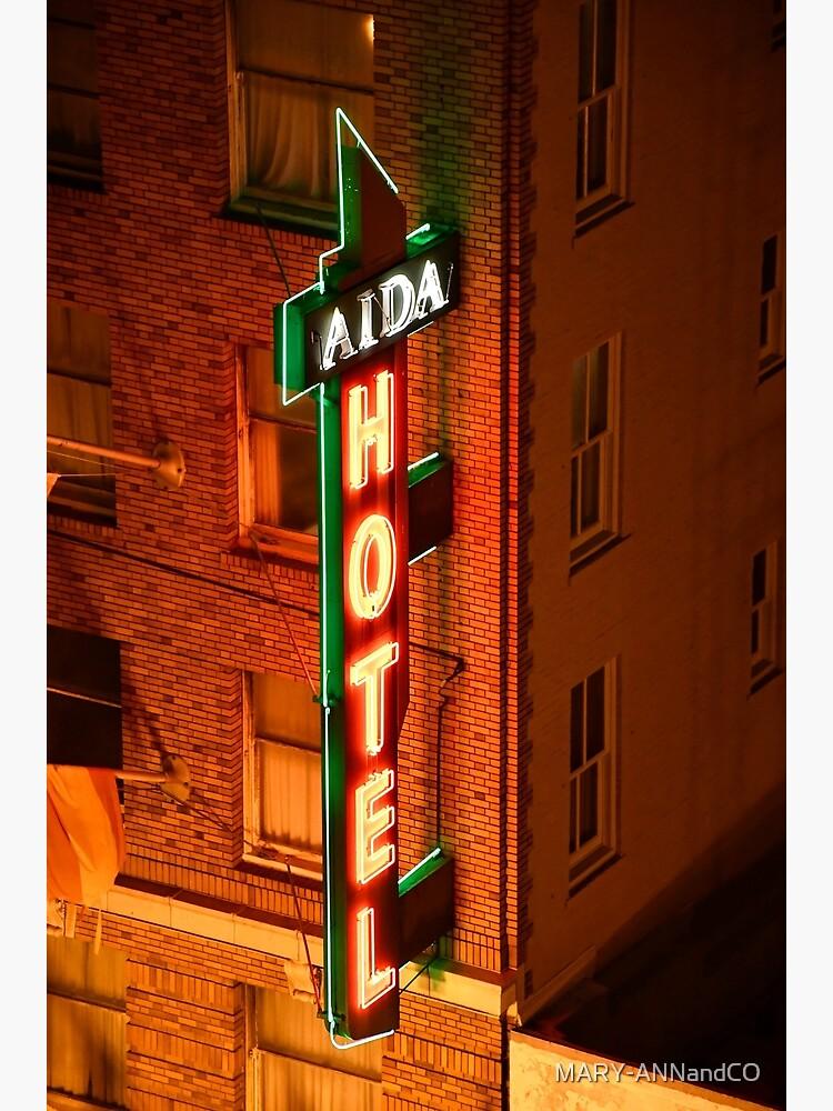 Street Sign, Aida Plaza Hotel, San Francisco by MARY-ANNandCO