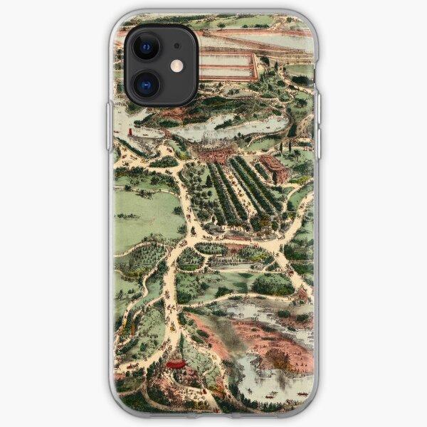Vintage Landkarte von Central Park NYC (1860) iPhone Flexible Hülle