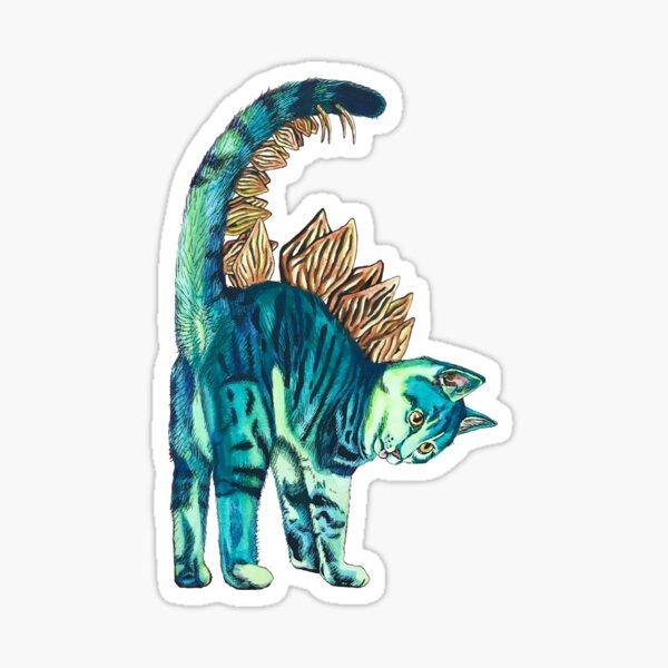 Stegosaurus Kitten Sticker