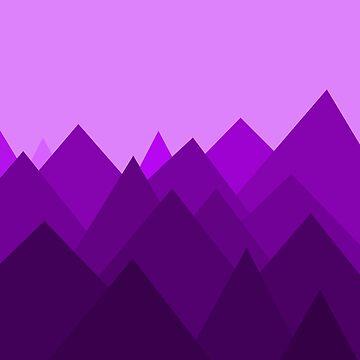 Paisaje extraterrestre púrpura abstracto de DanaAndTheBooks