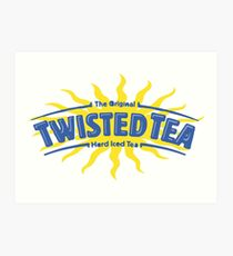 Verdrehtes Tee-Getränk Kunstdruck