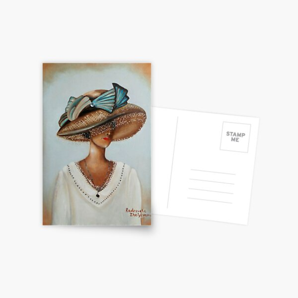 Lady in White Postcard