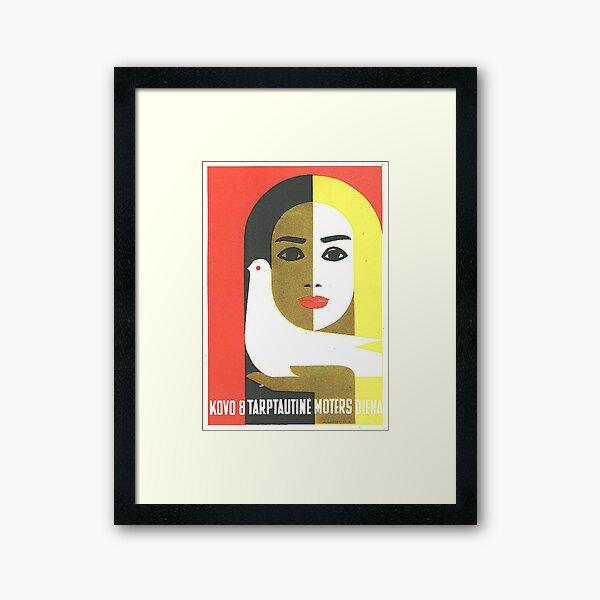 Vintage Russian Poster, USSR Soviet Union International Women's Day by Juozas Galkus 1968 Framed Art Print