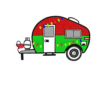 Christmas Merry Camper CampingShirt by tsunrisebey