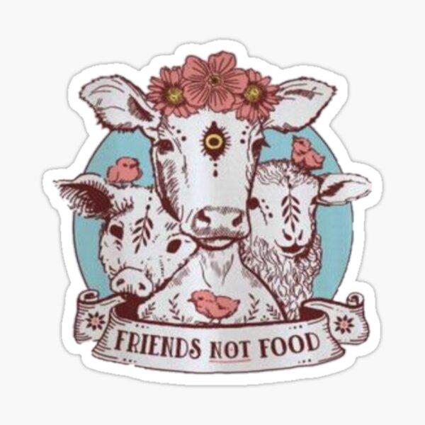 shirt - friends not food Sticker
