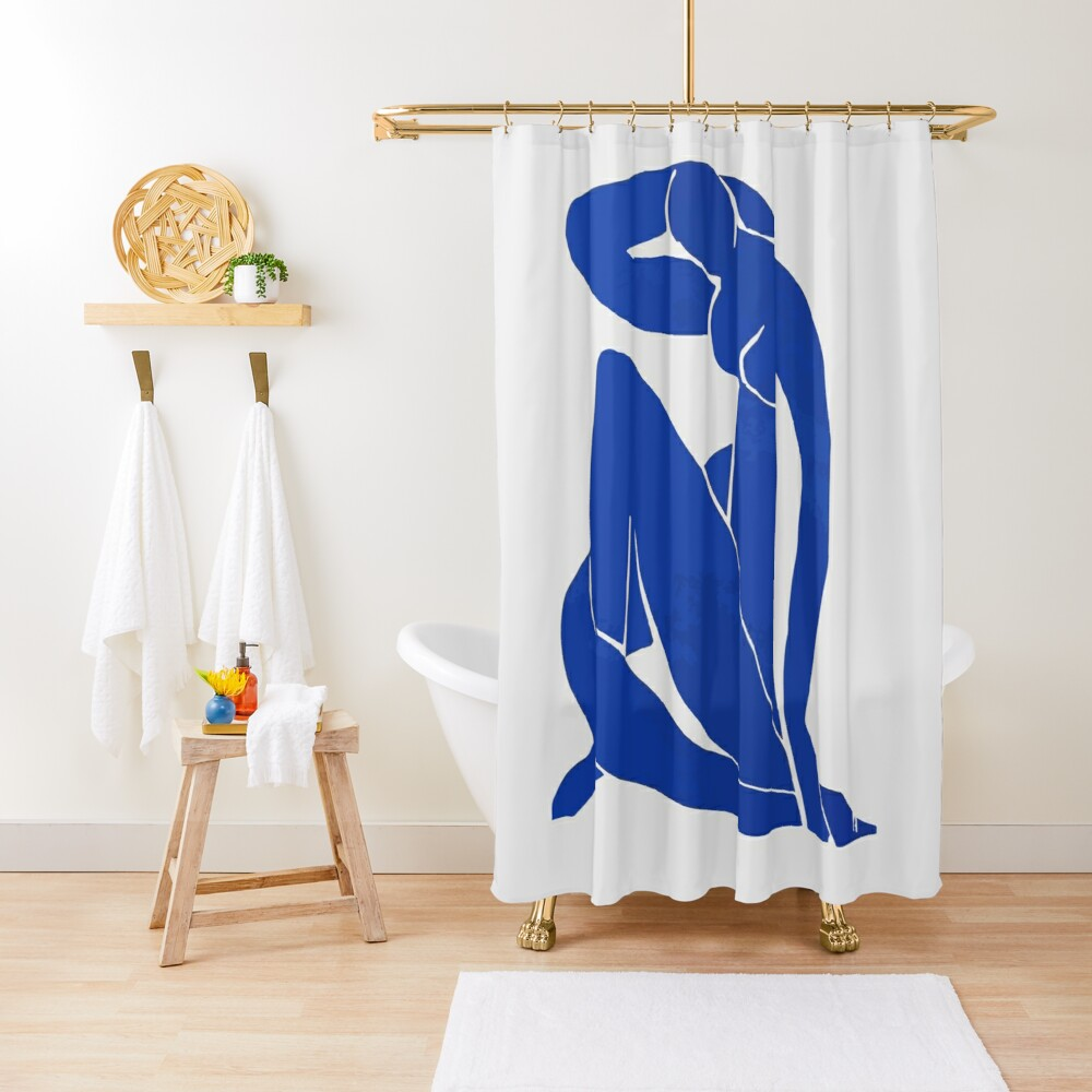 Henri Matisse - Blue Nude 1952 - Original Artwork Reproduction Shower Curtain